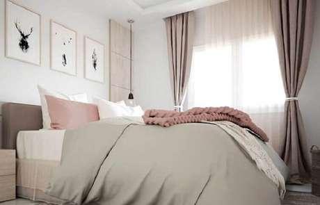48- As cortinas para quarto podem ter lenços amarrados na lateral. Fonte: Pinterest