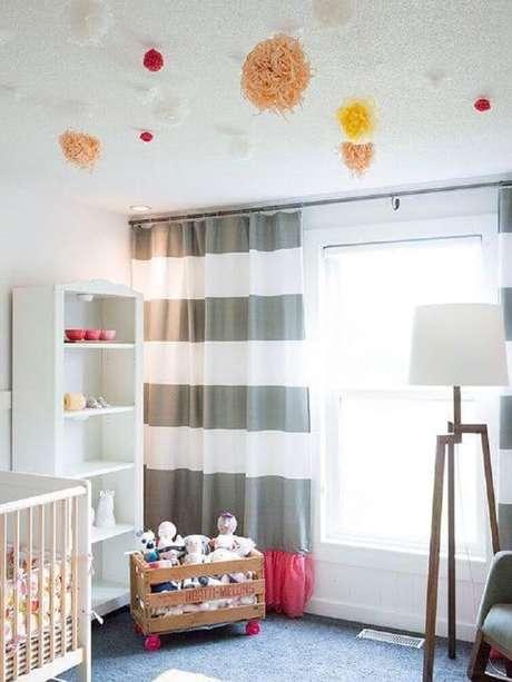 59- As cortinas para quarto dão graça e leveza ao ambiente. Fonte: Pinterest