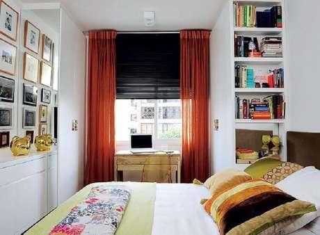 63- As cortinas para quarto com varão são práticas na hora da instalação. Fonte: Cinthia Liberator