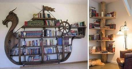 19. Prateleira para livros com design ousado. Fonte: Book Bub