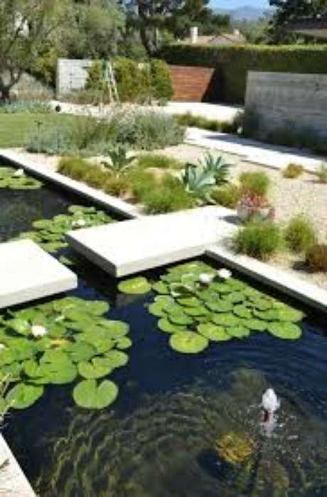 22. Use vitória régia para decorar seu jardim com lago artificial! – Foto: Mauricio Gebara