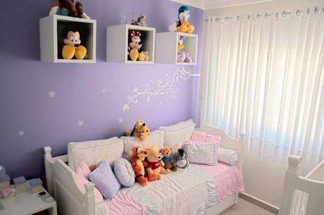 49- As cortinas para quarto em tecidos leves tem fácil manutenção. Fonte: Pinterest