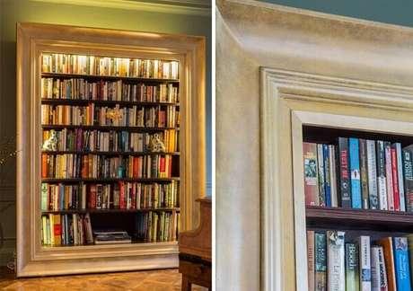30. Prateleira para livros com design de porta retrato. Fonte: Mark Taylor