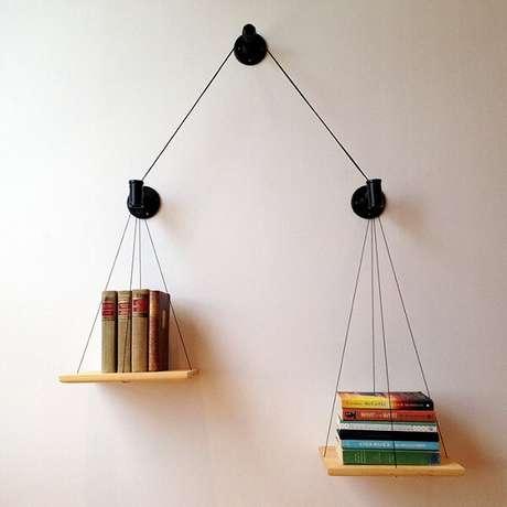 32. Prateleira para livros com estrutura de cabos. Fonte: Etsy