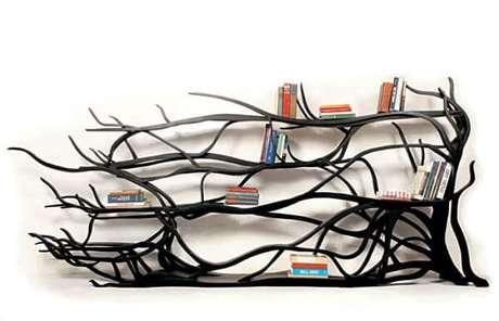 34. Prateleira para livros com formato orgânico. Fonte: Pinterest