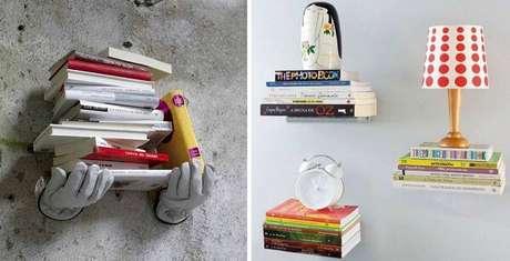 84. Prateleira para livros com design criativo. Fonte: Pinterest
