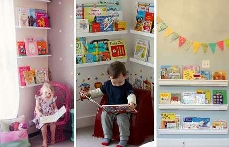 88. Proporcione as crianças um ambiente para leitura investindo em prateleira para livros. Fonte: Pinterest