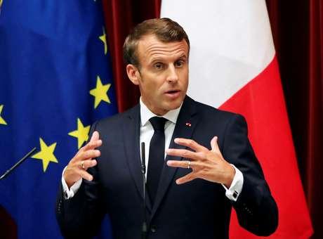 Presidente francês, Emmanuel Macron 26/06/2019 Koji Sasahara/Pool via REUTERS