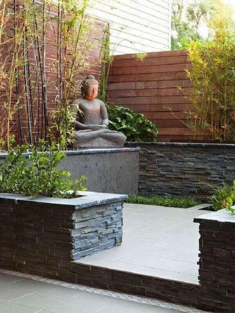 15. A presença do Buda no Jardim Japonês o convida a prática da meditação. Fonte: Pinterest