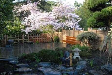 16. A Sakura é conhecida como a árvore da felicidade sendo muito utilizada no Jardim Japonês. Fonte: Pinterest
