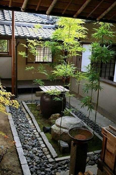 19. Ambientes internos com a presença de Jardim Japonês. Fonte: Pinterest