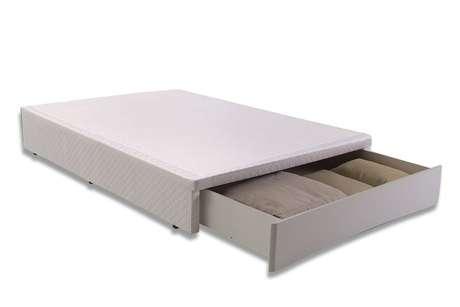 11. Uma das variantes mais comuns da cama com gavetas modelo box é a com módulos frontais. Foto: Filhão