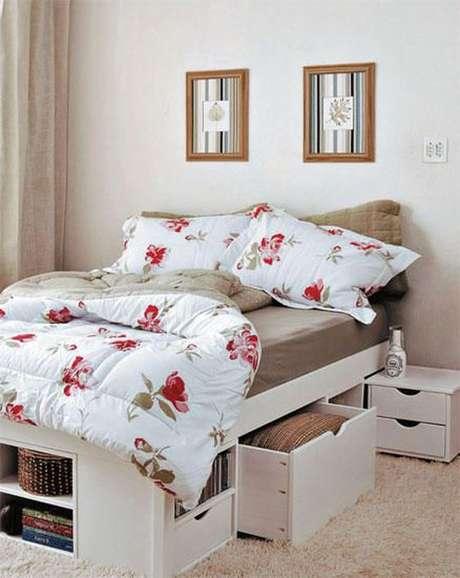 2. A cama com gavetas possui uma série de vantagens. Foto: Casar É