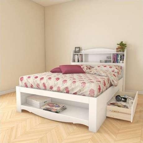 1. A cama com gavetas é um móvel multifuncional. Foto: Cymax