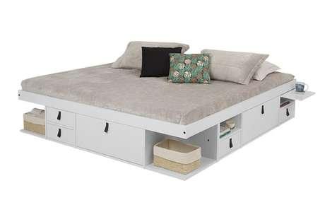 4. A cama com gavetas na versão casal é ainda mais funcional. Foto: Meu Móvel de Madeira
