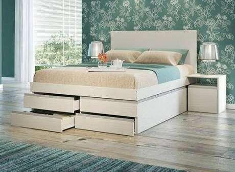 18. O modelo de cama com gavetas na parte frontal é também muito comum. Foto: Pinterest