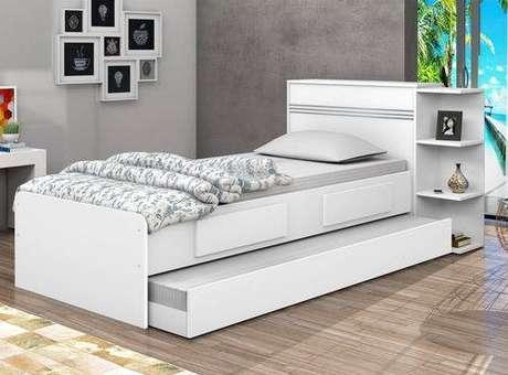 21. A funcionalidade da cama com gavetas pode ser estendida a outras partes do móvel. Foto: Americanas