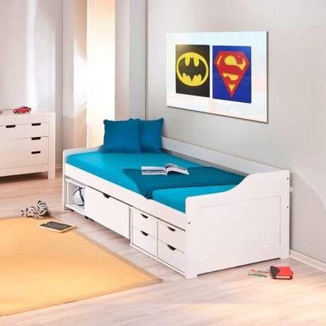 7. A cama com gavetas infantil é excelente para quartos de criança. Foto: Inter Casa