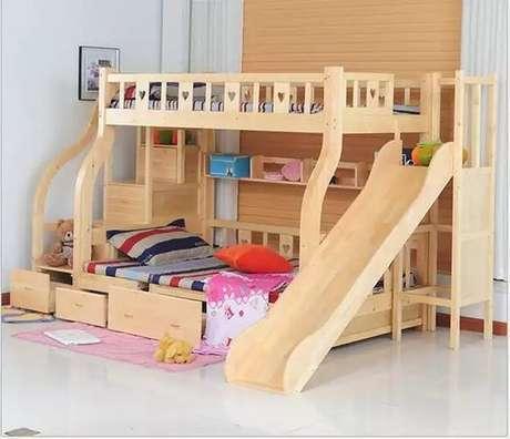28. A cama com gavetas também podem ser beliches e ganhar peças especiais. Foto: Ali Express