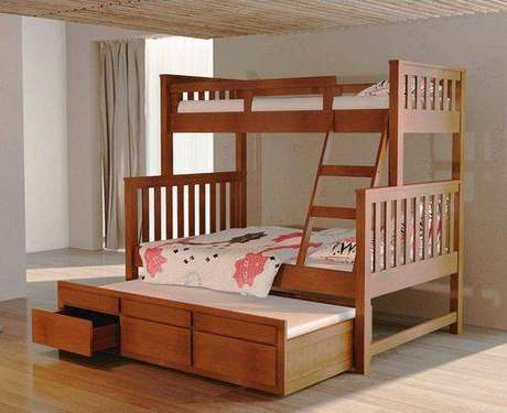 40. A cama com gavetas no modelo treliche é um bom exemplo de multifuncionalidade. Foto: Americanas