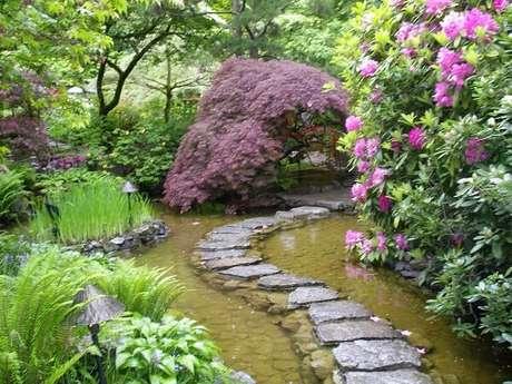29. Caminho formado por pedra complementa o paisagismo do Jardim Japonês. Fonte: O Meu Jardim