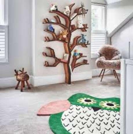 54. Sua sala é alegre e divertida? Então use o tapete de coruja para decorá-la – Por: Dicas de mulher
