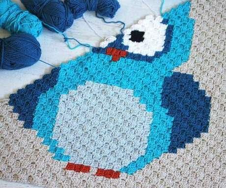 55. Aposte no DIY para fazer um tapete de coruja – Por: Pinterest
