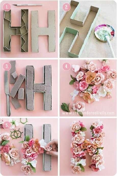 3. Decoração com flores, DIY baratinhos para decorar sua casa. Fonte: Pinterest