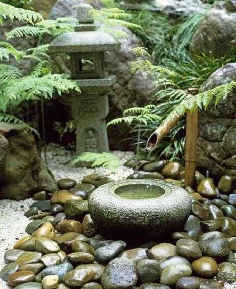 40. Elementos reunidos que tornam o Jardim Japonês encantador. Fonte: Pinterest