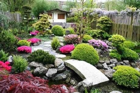 53. Jardim Japonês colorido e divertido. Fonte: Pinterest