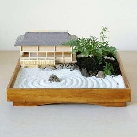 70. O mini Jardim Japonês proporciona momentos de relaxamento. Fonte: Pinterest