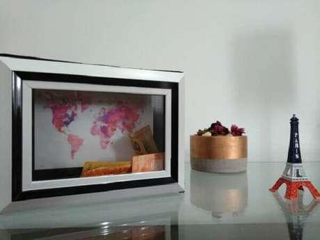 2. Porta retrato e cofre, DIY baratinhos para decorar sua casa. Fonte: Pinterest