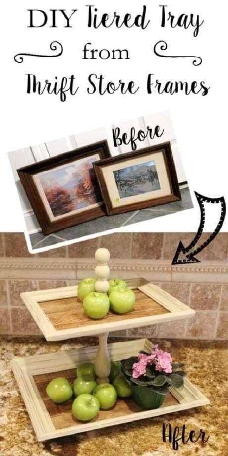 8. Porta retrato para cozinha, DIY baratinhos para decorar sua casa. Fonte: Pinterest