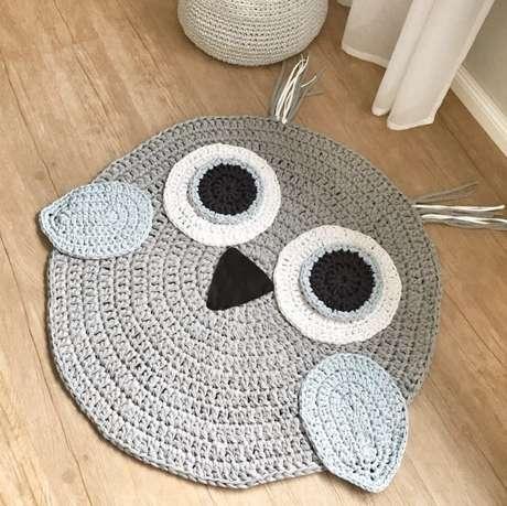 48. Tapete de coruja também pode ser usado no quarto. Escolha modelos fofos e lindos! – Por: