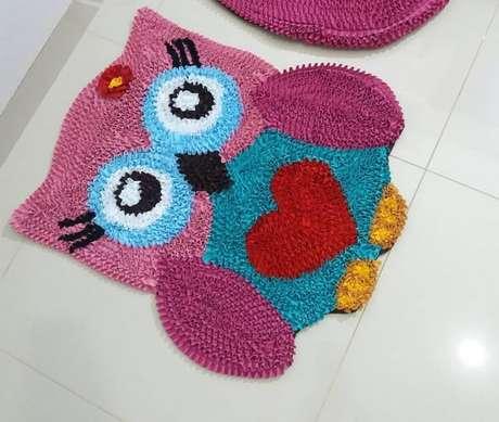 45. Tapete de coruja DIY colorida e alegre! – Por: