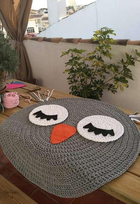 41. Faça você mesma seu tapete de coruja! – Por: pinterest