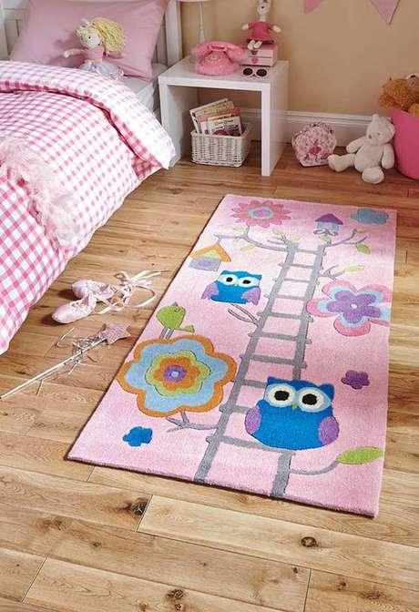 34. Um lindo e delicado tapete de coruja para sua casa! – Por: Pinterest
