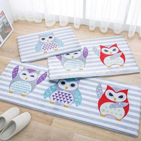 15. Compre kits de tapete de coruja para seu quarto ficar em perfeita harmonia em todos os detalhes – Por: Aliexpress