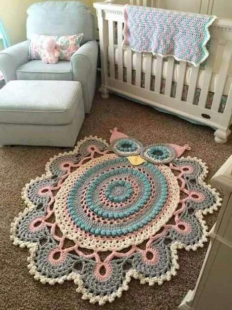 1. O tapete de coruja é lindo para quartos infantis – Por: Pinterest