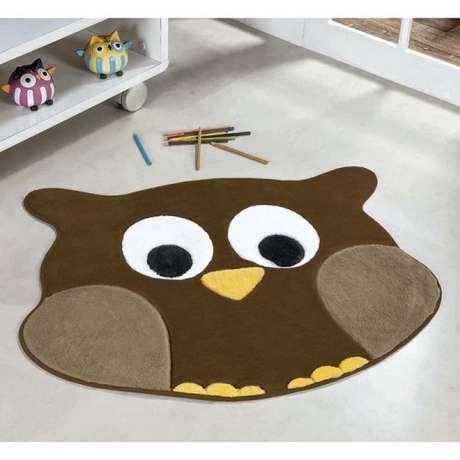 12. Tapete de coruja para quarto marrom – Por: madeira madeira