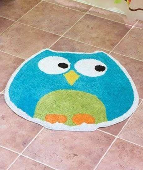 10. O tapete de coruja para sala pode ter cores lindas e alegres – Por: Decor Store