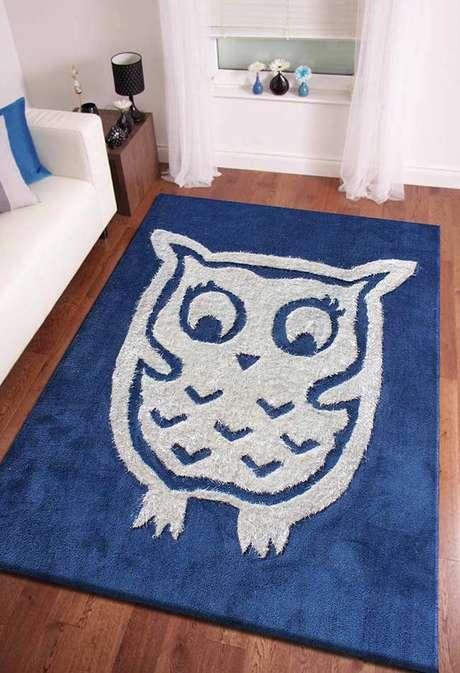 11. Use o tapete de coruja na sala para alegrar o ambiente – Por: Pinterest