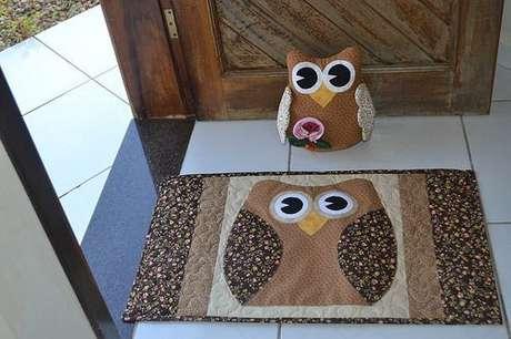 61. O tapete de coruja também pode ser feito de patchwork – Por: Construindo decor