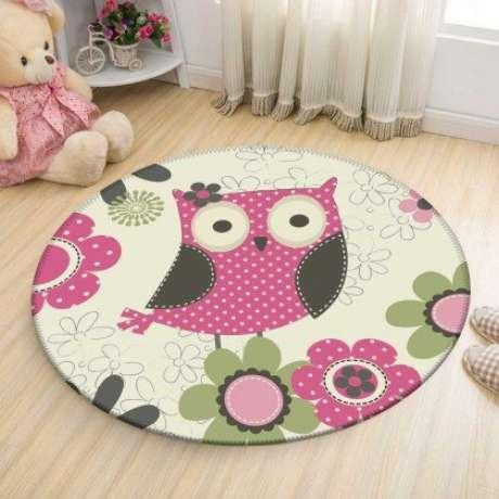 59. O tapete de coruja é lindo para quartos infantis – Por: Wevans