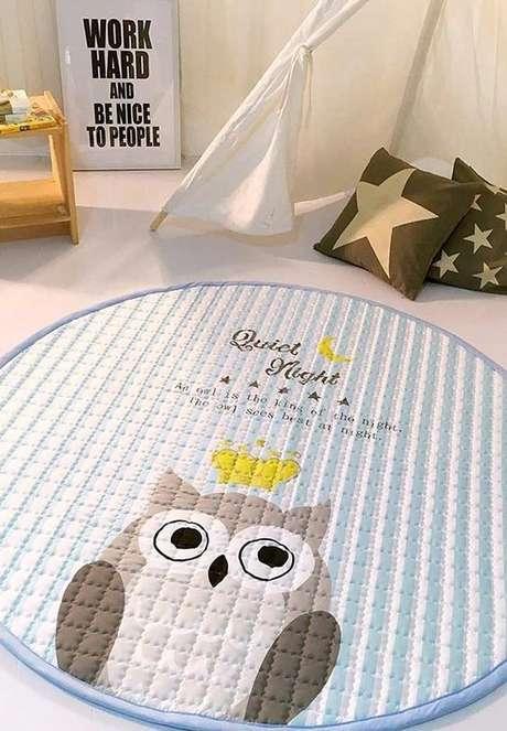 52. O tapete de coruja pode ser de outros materiais também. Escolha o que você mais se identifica – Por: Pinterest