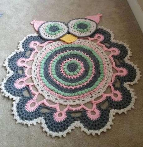 53. Use o tapete de coruja para ter ambientes alegres e descontraídos – Por: Pinterest