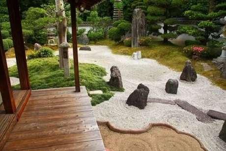 76. Ter um Jardim Japonês grande em casa é o sonho de muita gente. Fonte: Pinterest