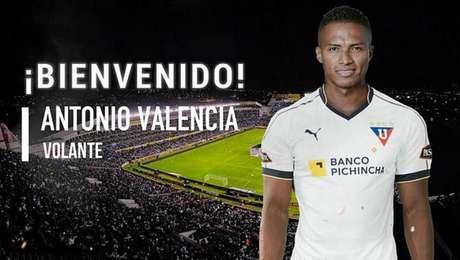 Antonio Valencia é anunciado como reforço da LDU