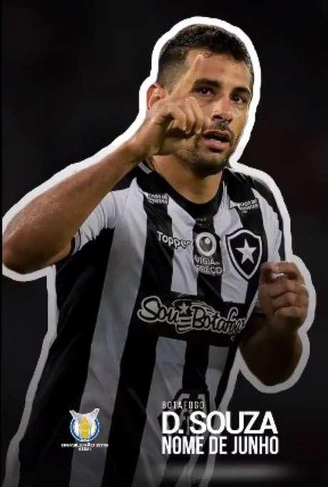 Atacante tem três gols marcados pelo Botafogo. (Foto: Reprodução)
