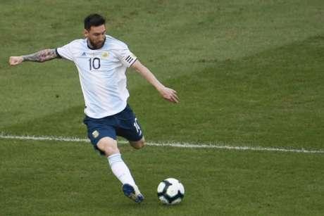 Messi, durante o confronto contra a Venezuela (Foto: AFP)